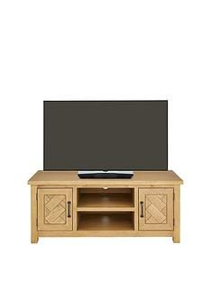 Ideal Home Ready Assembled Parquet TV Unit - fits up to 55 inch TV Best Price, Cheapest Prices