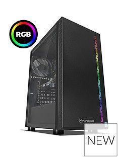 PC Specialist Stalker GT Intel Core i3, 8GB RAM, 1TB Hard Drive & 120GB SSD, 4GB Nvidia Geforce GTX 1650 Graphics, Gaming Desktop - Black Best Price, Cheapest Prices