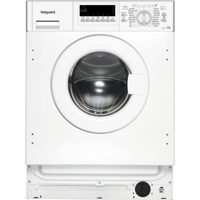 Hotpoint HWMG743 Integrated 7Kg Washing Machine with 1400 rpm - A+++ Rated Best Price, Cheapest Prices