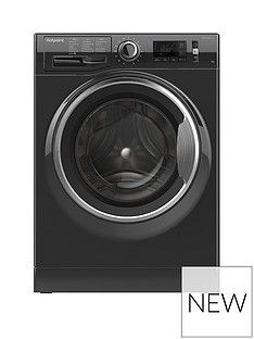 Hotpoint Active Care NM11946BCA 9kg Load, 1400 Spin Washing Machine - Black Best Price, Cheapest Prices