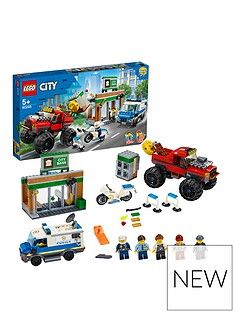 LEGO City 60245 Police Monster Truck Heist with Van and Motorbike Best Price, Cheapest Prices