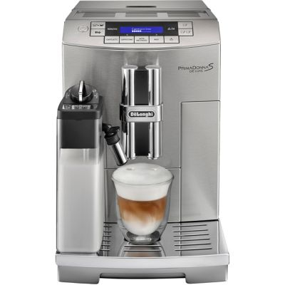 De'Longhi PrimaDonna S ECAM28.465.M Bean to Cup Coffee Machine - Silver Best Price, Cheapest Prices