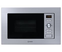 INDESIT MWI 122.2 X Built-in Microwave with Grill - Silver Best Price, Cheapest Prices