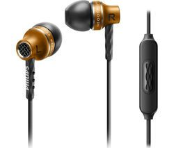 PHILIPS SHE9105 Headphones - Brass Best Price, Cheapest Prices
