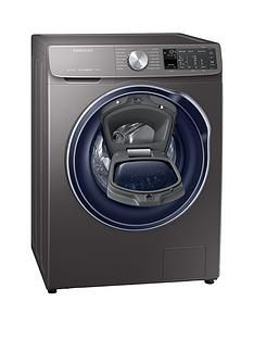 Samsung WW90M645OPO/EU 9kg Load, 1400 Spin QuickDrive™ Washing Machine with AddWash™ and 5 Year Samsung Parts and Labour Warranty - Grey/Graphite Best Price, Cheapest Prices