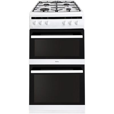 Amica AFG5100WH Gas Cooker with Full Width Gas Grill - White - A/A Rated Best Price, Cheapest Prices
