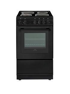 New World NW 50ES 50cm Electric Solid Plate Single Oven - Black Best Price, Cheapest Prices