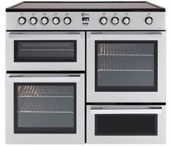 FLAVEL MLN10CRS Electric Ceramic Range Cooker - Silver & Chrome Best Price, Cheapest Prices