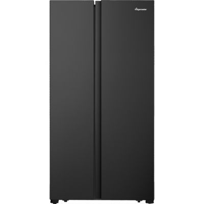 Fridgemaster MS91518FBS American Fridge Freezer - Black / Stainless Steel - A+ Rated Best Price, Cheapest Prices