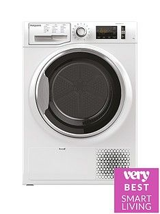Hotpoint ActiveCare NTM1182XB 8kg Load Heat Pump Tumble Dryer - White Best Price, Cheapest Prices