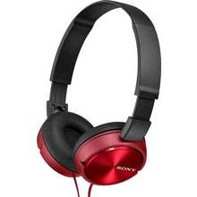 Sony ZX310 On-Ear Headphones - Red Best Price, Cheapest Prices