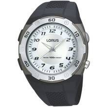 Lorus Men's Black Rubber Strap LED Side Light Watch Best Price, Cheapest Prices