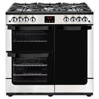 New World Vision 90G 90cm Gas Range Cooker in Stainless Steel 444444210 Best Price, Cheapest Prices