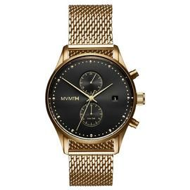 MVMT Men's Voyager Gold Plated Mesh Strap Watch Best Price, Cheapest Prices