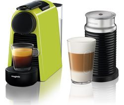 NESPRESSO by Magimix Essenza Mini Coffee Machine with Aeroccino - Lime Green Best Price, Cheapest Prices