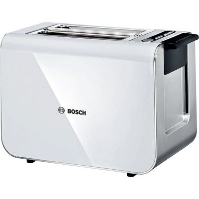 Bosch Styline TAT8611GB 2 Slice Toaster - White / Stainless Steel Best Price, Cheapest Prices