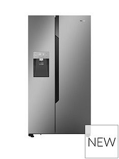 Hisense Non Plumbed. Total No Frost American Fridge Freezer SSL with Water & Ice Dispenser Best Price, Cheapest Prices