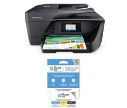 HP Officejet Pro 6960 All-in-One Wireless Inkjet Printer with Fax & Instant Ink £25 Prepaid Card Bundle Best Price, Cheapest Prices