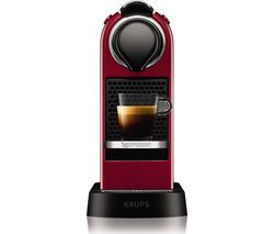 NESPRESSO by Krups CitiZ XN741540 Coffee Machine - Red Best Price, Cheapest Prices