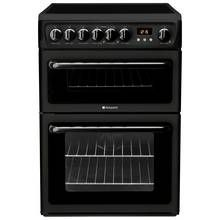Hotpoint HAE60K Double Freestanding Electric Cooker - Black Best Price, Cheapest Prices