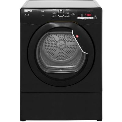 Hoover Dynamic Next HLV9DGB Vented Tumble Dryer - Black - C Rated Best Price, Cheapest Prices