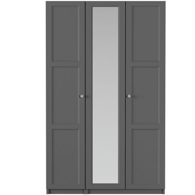 One-Call Bexley 3 Door Mirrored Wardrobe Best Price, Cheapest Prices
