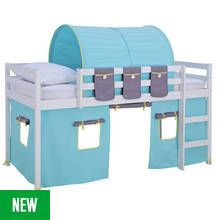 Argos Home Kaycie White Mid Sleeper with Turqoise Tent Best Price, Cheapest Prices