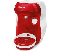 TASSIMO by Bosch Happy TAS1006GB Coffee Machine - Red & White Best Price, Cheapest Prices