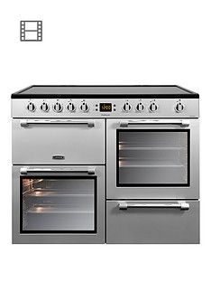 Leisure CK100C210S Cookmaster 100cm Electric Range Cooker with Ceramic Hob and Optional Connection - Silver Best Price, Cheapest Prices