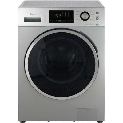 Hisense P Series WFP8014VS 8Kg Washing Machine with 1400 rpm - Silver - A+++ Rated Best Price, Cheapest Prices