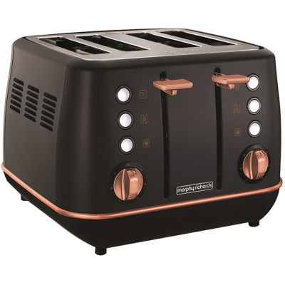 Morphy Richards Evoke Special Edition 240114 4 Slice Toaster - Black / Rose Gold Best Price, Cheapest Prices