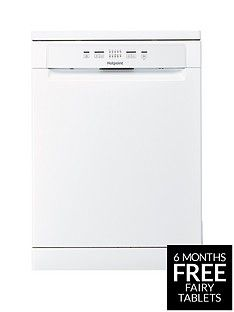 Hotpoint Aquarius HFC2B19 13-Place Full Size Dishwasher - White Best Price, Cheapest Prices