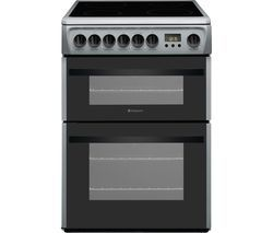 HOTPOINT Newstyle DCN60S 60 cm Electric Ceramic Cooker - Silver & Black Best Price, Cheapest Prices