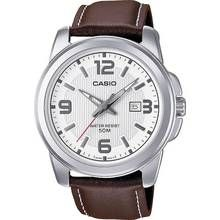 Casio Men's Brown Genuine Leather Strap Watch Best Price, Cheapest Prices
