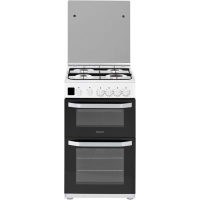 Hotpoint Cloe HD5G00CCW 50cm Gas Cooker with Full Width Gas Grill - White - A Rated Best Price, Cheapest Prices