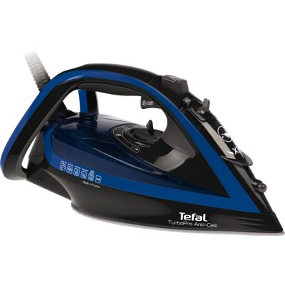 Tefal Turbo Pro Anti-Scale FV5648 2600 Watt Iron -Blue / Black Best Price, Cheapest Prices