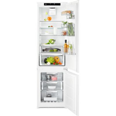AEG SCE81925TS Integrated 70/30 Frost Free Fridge Freezer with Sliding Door Fixing Kit - White - A+++ Rated Best Price, Cheapest Prices