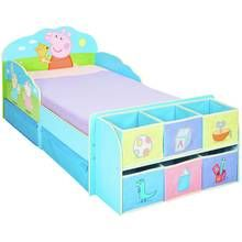 Peppa Pig Toddler Bed with Cube Storage Best Price, Cheapest Prices