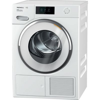 Miele T1 WhiteEdition TWR860WP Wifi Connected 9Kg Heat Pump Tumble Dryer - White - A+++ Rated Best Price, Cheapest Prices