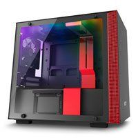 NZXT H200i, Red, Mini-ITX Computer Chassis, w/ Tempered Glass Window, Smart Control, Mini-ITX, 2x 120mm Fans, 2x USB3 Best Price, Cheapest Prices