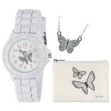 Tikkers White Glitter Butterfly Watch Set Best Price, Cheapest Prices