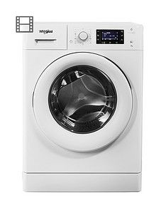 Whirlpool FreshCare+ FWD91496W 9kg Load, 1400 Spin 6th Sense Washing Machine - White Best Price, Cheapest Prices