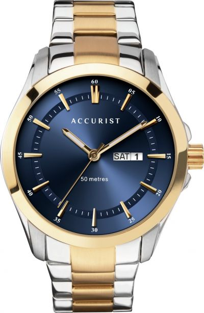 Accurist Men's Two Tone Stainless Steel Bracelet Watch Best Price, Cheapest Prices