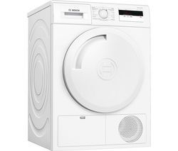 BOSCH Serie 4 WTH84000GB 8 kg Heat Pump Tumble Dryer - White Best Price, Cheapest Prices