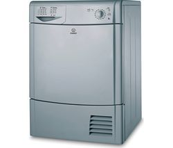 INDESIT Eco Time IDC8T3BS8 kg Condenser Tumble Dryer - Silver Best Price, Cheapest Prices