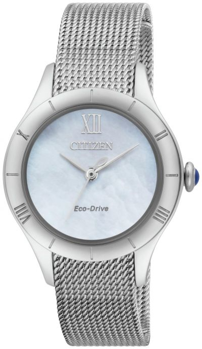 Citizen Ladies Silver Stainless Steel Mesh Strap Watch Best Price, Cheapest Prices