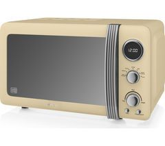 SWAN SM22030CN Solo Microwave - Cream Best Price, Cheapest Prices