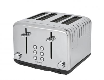 Cookworks Pyramid 4 Slice Toaster - Stainless Steel Best Price, Cheapest Prices