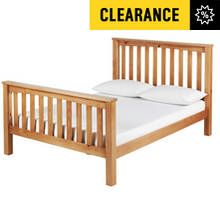 Argos Home Maximus Kingsize Bed Frame - Oak Stained