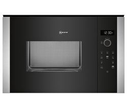 NEFF HLAWD53N0B Built-in Solo Microwave - Black Best Price, Cheapest Prices